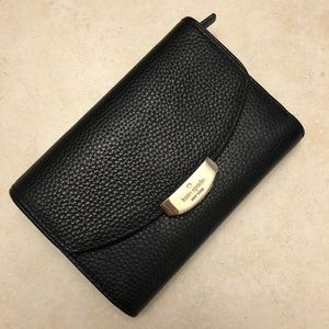 Kate spade black leather wallet. Like new